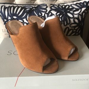 Sole Society Drew Wedge Suede 5.5